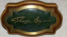 ITALIA - INSEGNA DA TAVOLO IN BRONZO DINO BIGIONI MADE IN ITALY - Advertising (Porcelain) Signs