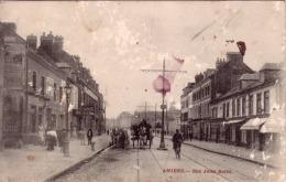 AMIENS RUE JULES BARNI (attelages Rail De Tramway Garage ) Grattages Circulée 1911 - Amiens