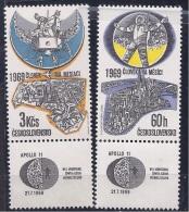 Czechoslovakia1969: FIRST MOON LANDING Michel1888-9mnh** - Space