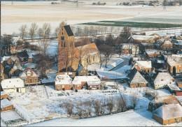 NL.- Godlinze. Onbeschreven Dubbele Kaart. Romanogotische Kerk. 2 Scans - Pays-Bas