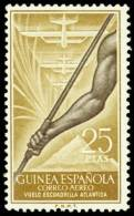 Guinea 368 (*) Sin Goma. Atlantida - Guinea Española