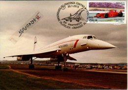 Maximum Supersonic Concorde 204 BRITISH AIRWAYS G-BOAC Aircraft Aviation Avion Aiplane  Postmark Philatelic - 1946-....: Moderne