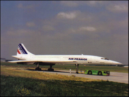Plan Supersonic Concorde 215 Air France F-BVFF Aircraft Aviation Avion Aiplane Postmark Philatelic - 1946-....: Ere Moderne