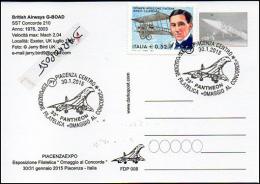 Concorde 210 British Airways G-BOAD Aircraft Aviation Avion Aiplane Postmark Philatelic Timbre Philatélique - Cartoline Maximum