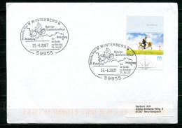 "Germany 2007 Heimatbeleg/Cover 59955 Winterberg M.Mi.Nr.2448 U.SST""Winterberg-Ruhrtal Quellenbrieftour,Biker""1 Beleg - [7] République Fédérale"