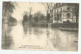CPA Hauts De Seine - 92 - Boulogne - Inondations 1910 ( Carte Bas Gauche Pliée Voir Scan ) - France