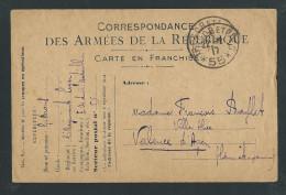 L536 - Correspondance Des Armées Franchise Militaire - Trésor Et Postes 55 -  Cachet En écho - VALENCE D´AGEN - Marcophilie (Lettres)