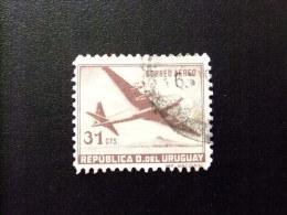 URUGUAY 1947-57 - QUADRIMOTEUR Yvert PA 128 FU - Uruguay