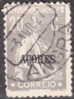 "AÇORES-1924-1928, Tipo «CERES». Selos Do Cont. C/ Sobrec. "" AÇORES "" 20 C.  D. 12x11 1/2 ( P. Liso )   (o) Afinsa Nº 203 - Azoren"