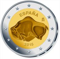 """SPAIN   / ESPAÑA  2 €UROS 2.015   2015 Bimetálica  """"Cuevas De ALTAMIRA""""  SC/UNC  T-DL-11.178 Canada - Espagne"""