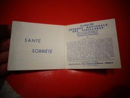 Vignette  : Carnet De 10 Vignettes De La JOURNEE NATIONALE DES VIEILLARDS 27 Octobre 1968 - Erinnofilia