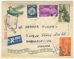Israel Brief 1955 nach Ungarn