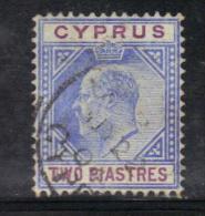 W2344 - CIPRO , Il N. 37 Usato Filigrana CA . - Chypre (...-1960)