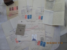 BORN In HUNGARY - RUMANIAN Resident - URUGUAY Naturalized - 1929 Documents - SEVERAL REVENUE STAMPS - See Description - Documentos Históricos