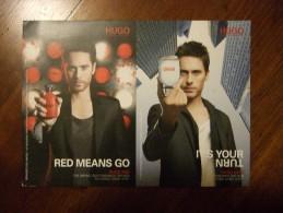 Hugo Boss Parfum Carte Postale Avec 2 Patch - Perfume Cards