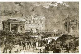 BELGIQUE (21/07/1860) : Scène De Liesse à Bxl Lors De L'abolition Des Octrois. CARTE 15 DES ARCHIVES DU SOIR ( 2005) - Manifestations