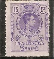 España/Spain-(MH/(*)) - Edifil  270 - Yvert 245 (sin Goma) - 1889-1931 Reino: Alfonso XIII