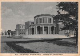 """02979 """"ROMA - FORO MUSSOLINI - ACCAD. FASCISTA - PALESTRA"""". ANIM. ARCHITET. DEL ´900. CARTOLINA ORIGINALE. SPEDITA 1938 - Enseignement, Ecoles Et Universités"""
