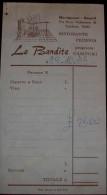 """ITALIA RICEVUTA DI RISTORANTE 1975 """"LE BANDITE"""" - Fatture"""