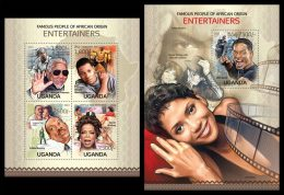 UGANDA 2013 - Entertainers Of African Origin - YT 2558-61 + BF416; CV = 28 €