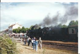 Photographie Amateur Originale, Locomotive à Vapeur Et Ses Wagons, Train Et Gare à Identifier , Baie De Somme ? - Eisenbahnen