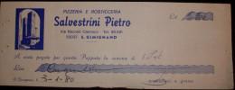 """RICEVUTA DI RISTORANTE 1980 """"SALVESTRINI PIETRO """" PAGATE A VISTA QUESTA PAPPATA... - Fatture"""