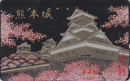 Télécarte Japon En LAQUE & OR - Religion Pagode Temple - LAQUER & GOLD Japan Phonecard - Tempel LACK Telefonkarte - 220 - Landschaften