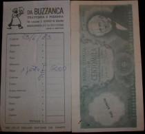 """RICEVUTA DI RISTORANTE1979  """" DA BUZZANCA """" - Fatture"""