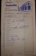 """RICEVUTA DI RISTORANTE1978  """"LEONETTO """" - Fatture"""