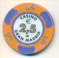 Casino Chip €2.50 Casino Gran Madrid, Spain - Casino