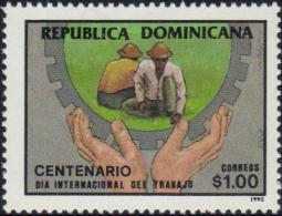 DOMINICAN LABOR DAY CENT. Sc 1080 MNH 1990 - Dominikanische Rep.