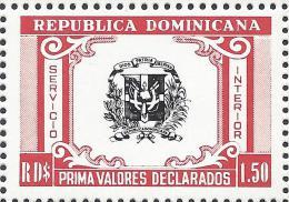 Dominican Coat Of Arms Declared Value Sc G57 MNH - Dominikanische Rep.