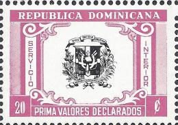 Dominican Coat Of Arms Declared Value Sc G53 MNH - Dominikanische Rep.