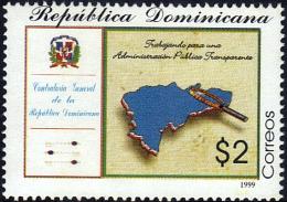 DOMINICAN COMPTROLLER GENERAL Sc 1303 MNH 1999 - Dominikanische Rep.