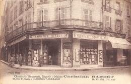 PUY DE DOME  63  CLERMONT FERRAND  COMMERCE CHEMISERIE BONNETERIE LINGERIE  MAISON BARDET, 27 RUE SAINT GENES - Clermont Ferrand