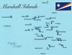Postcard - Marshall Islands (Map), Oceania. A - Marshall Islands