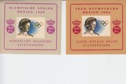 BELGIO  - Olimpiade Messico 1968 - Archeologia - Cinderellas