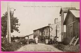 Cpa Vilcey Sur Trey Derniers Vestiges De La Grande Rue Carte Postale 54 Lorraine Proche Villers Sous Prény Vandières - Autres Communes