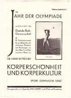 Altes Prospekt - Werbung 1928 - Im Jahr Der Olympiade , Sport , Gymnastik , Tanz , Körperkultur , Fussball !!! - Olympische Spiele