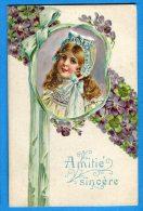 Mans1144, Amitié Sincère, Circulée 1909 - Fancy Cards