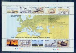 T02 Guyana 1994 Review Of World War II Battle Of African Souvenir MNHBOX-10 - Militares