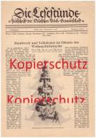 Original Zeitungsbericht - 1928 - Weihnachtsbräuche , Volkskunst , Erzgebirge , Schnitzerei , Thüringen , Weihnachte !!! - Anges