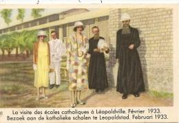 Image Publicitaire Leopolville La Visite   Des Ecoles Catholiques Fevrier 1933 - Kinshasa - Léopoldville