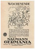 Original Werbung - 1928 - Naumann Germania , Fahrrad , Seidel & Naumann In Dresden !!! - Transport