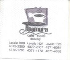 NAPKIN PAPEL SERVILLETA PAPER SERVIETTE  - ANAMORA DE LA CALLE LAVALLE - Serviettes Publicitaires