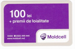 Moldova   Moldavie  , Prepaid Phonecard - Moldcell  , 100 Lei ,  Used - Moldova