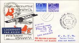 1976-Holland Nederland Olanda Aerogramma Rievocazione Scampo Garibaldi,trasporto Posta A Mezzo Elicottero Rimini San Mar - Airmail