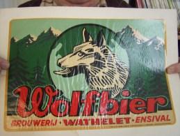 WOLFBIER Brasserie WATHELET ENSIVAL - Reclame