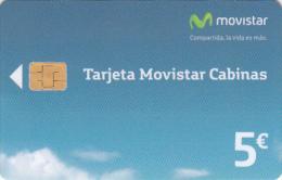SPAIN - Movistar Telecard 5 Euro, 01/11, Used