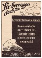Original Werbung - 1928 - WANDERER , Werk In Schönau B. Chemnitz , Motorrad , Motorräder !!! - Motorräder